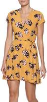 Honey Punch Floral Wrap Dress