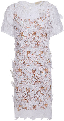 MICHAEL Michael Kors Embellished Appliqued Guipure Lace Dress