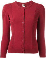 I'M Isola Marras ribbed detail buttoned cardigan - women - Polyester/Viscose - S