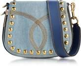 Marc Jacobs Denim Small Nomad Saddle Bag