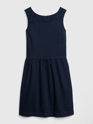 Gap Kids Uniform Sleeveless Dress with Shield