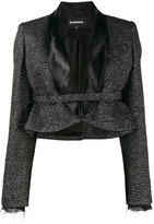 Ann Demeulemeester glitter embellished cropped jacket - women - Nylon/Polyester/Rayon/Virgin Wool - 34
