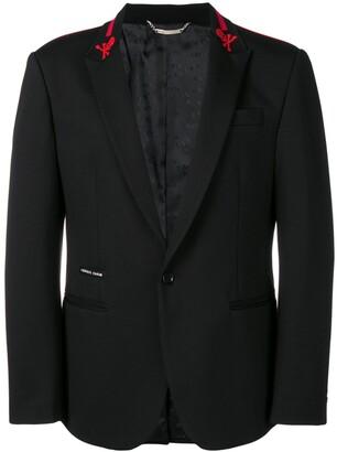 Philipp Plein Stripes single-breasted blazer