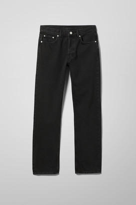 Weekday Wire High Straight Jeans - Black