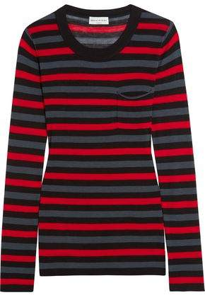 Sonia Rykiel Striped Cotton And Silk-Blend Jersey Top