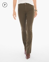 Chico's Straight-Leg Jeans in Ambered Olive
