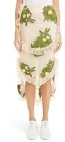 Simone Rocha Women's Embroidered Peony Skirt