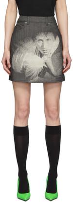 Undercover Grey Cindy Sherman Edition Denim Miniskirt
