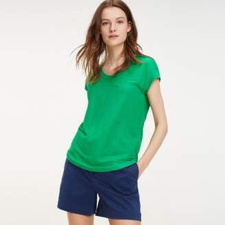 Tommy Hilfiger Back Pleat Viscose Blend T-Shirt