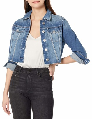 True Religion Women's Cropped Denim Trucker Jacket