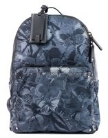 Valentino Gray Butterfly Printed Nylon Backpack.