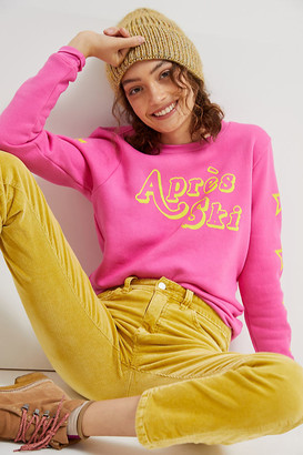 Sol Angeles Apres Ski Graphic Sweatshirt By in Pink Size XS