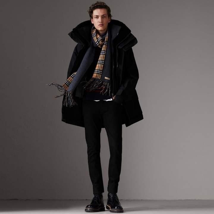 Burberry Detachable Shearling Collar Modular Jacket with Warmer , Size: 46, Black