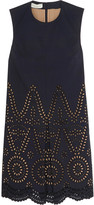 Stella McCartney Noemie broderie anglaise-paneled cotton mini dress