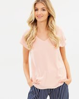 Wallis Double Layer Tie Back Blouse
