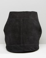 Pieces Suede Backpack