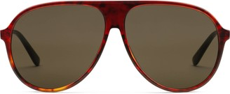 Gucci Specialized fit aviator sunglasses