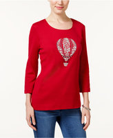 Karen Scott Balloon Graphic Top, Only at Macy's
