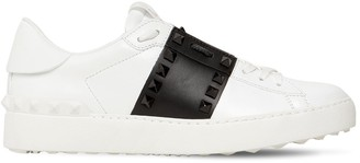 Valentino 20MM ROCKSTUD UNTITLED LEATHER SNEAKERS