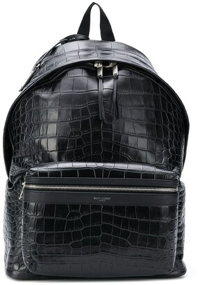 Saint Laurent crocodile-effect City backpack