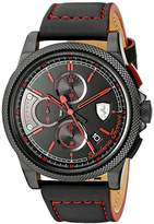 Ferrari Men's 0830273 FORMULA ITALIA S Analog Display Japanese Quartz Black Watch