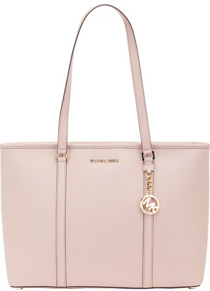 Michael Kors Women's Totebags FAWN - Fawn Sady Leather Tote