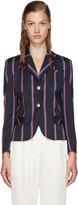 Altuzarra Navy Striped Dandridge Blazer
