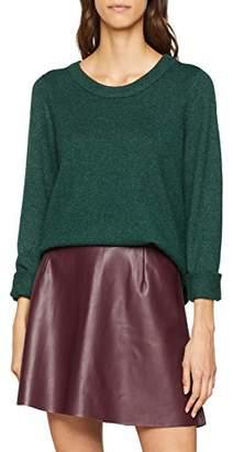 Vila CLOTHES Women's Viril L/s Open Back Knit Top-noos Jumper,(Size: 40 L)