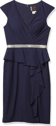 Mac Duggal Women's Mikado Gown with Beaded Sweatheart Bodice