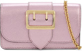 Burberry Buckle leather clutch