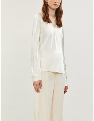Joseph Meggy silk satin blouse