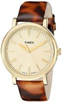Timex Women's T2P237AB Originals Gold-Tone Watch with Tortoise-Pattern Band