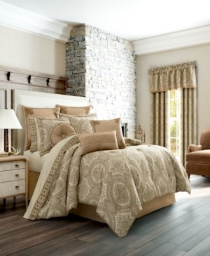 J Queen New York J Queen Sardinia Gold King Comforter Set Bedding