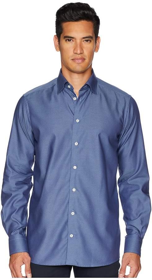 Eton Contemporary Fit Diamond Textured Shirt Men's Long Sleeve Button Up