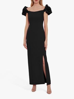 Gina Bacconi Ivalo Crepe Maxi Dress