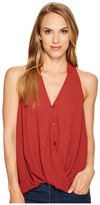 Stetson 1073 Crepe Sleeveless Twist Front Top Women's Sleeveless