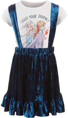 Disney Little Girls 2-Pc. Trust Your Journey T-Shirt & Velvet Skirtall Set