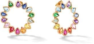 Shebee Gem Open Loop Earrings