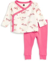 Tea Collection Infant Girl's Flutterby Top & Sweatpants Set