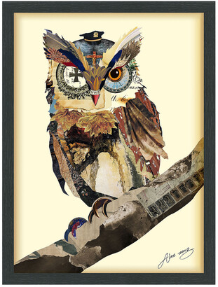 Empire Art Direct The Wisest Owl Framed Artwork By Alex Zeng