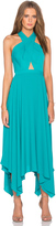 BCBGMAXAZRIA Annmarie Cross Front Maxi Dress