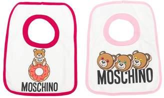 MOSCHINO BAMBINO Teddy Bear Print Bib Set
