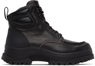 Moncler Black Leather Ulderic Boots