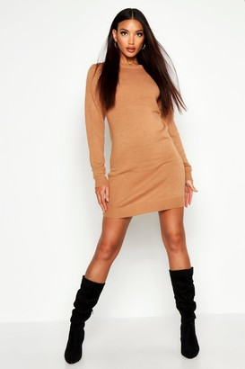 boohoo Crew Neck Long Sleeve Dress