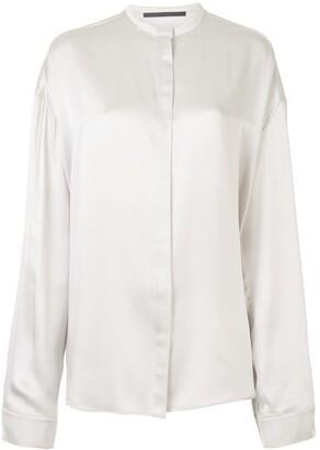 Haider Ackermann Band Collar Silk Shirt