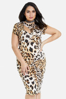 Fashion to Figure Shawn Keyhole Animal Print Dress