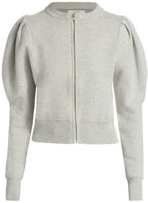 Etoile Isabel Marant Lemmy Wool-Blend Puff-Sleeve Cardigan