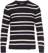 A.P.C. Crew-neck striped cotton sweater