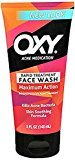 Oxy Acne Medication Maxium Action Advanced Face Wash, 5 FZ (Pack of 3)