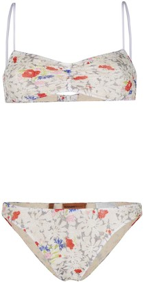 Missoni Mare Flower Print Bikini Set